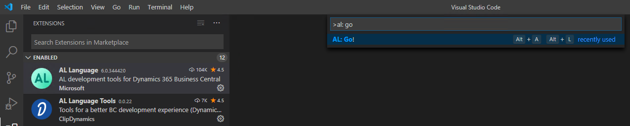 Screenshot_Visual Studio Code Start_ALGo