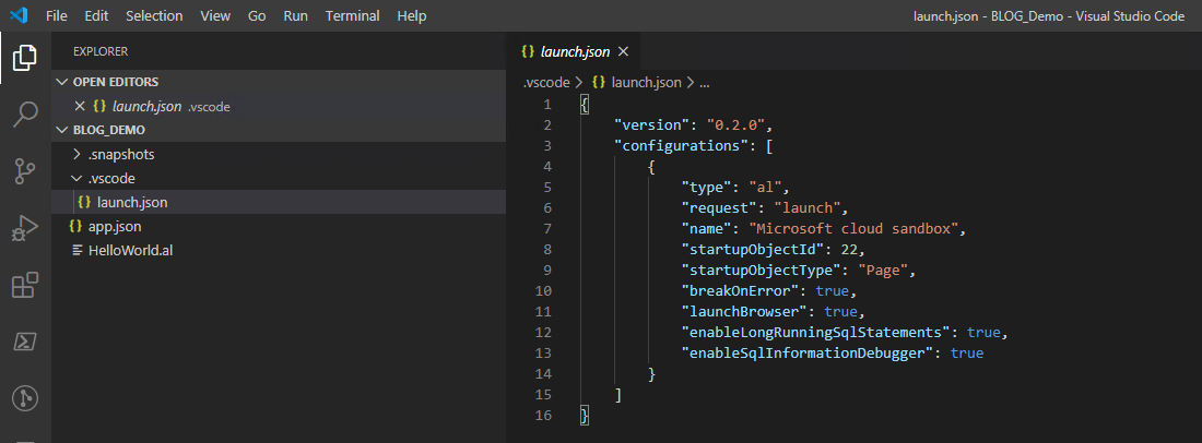 Screenshot_Visual Studio Code_Project launch
